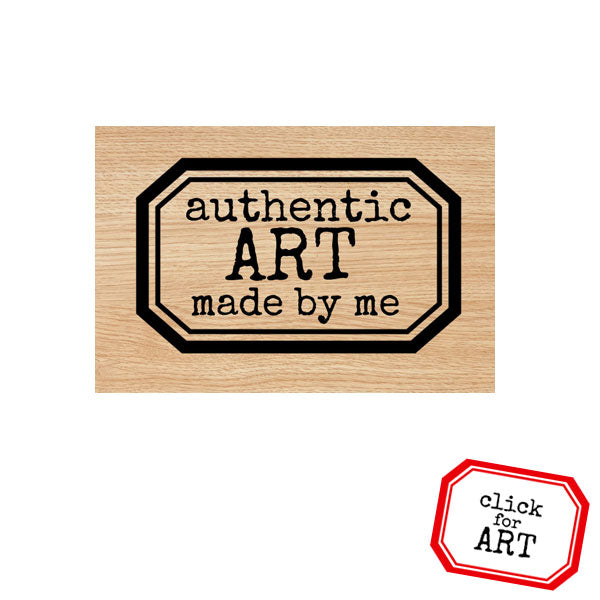 Authentic Art Made By Me Wood Mount Rubber Stamp