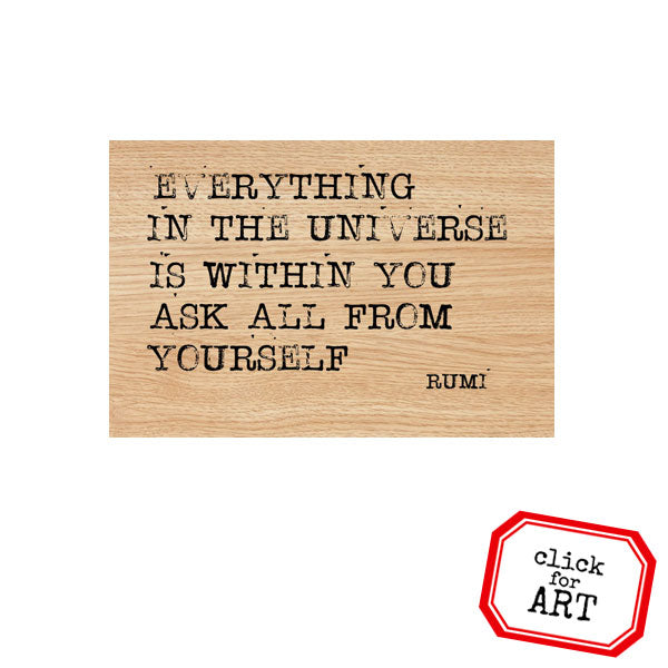 Everything In the Universe Wood Mount Rubber Stamp