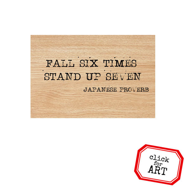Fall Six Times Wood Mount Rubber Stamp