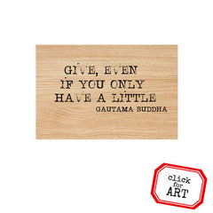 Give Wood Mount Rubber Stamp