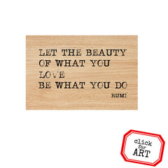 Let the Beauty Wood Mount Rubber Stamp