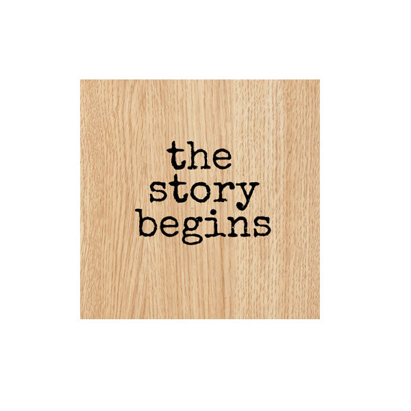 The Story Begins Wood Mount Rubber Stamp