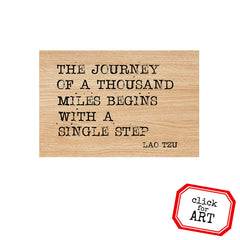 The Journey of a Thousand Miles Wood Mount Rubber Stamp