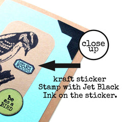 rubber stamping on stickers