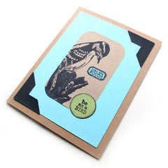 woodpecker bird card
