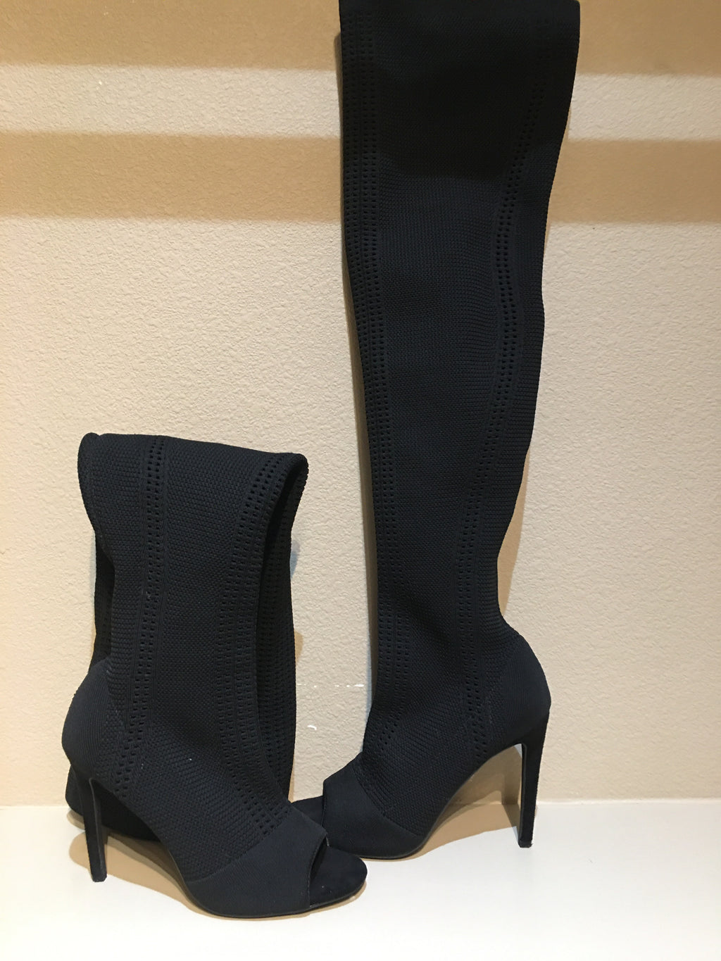 Cape Robbin Over the Knee Peep Toe Boot: Size 8.5
