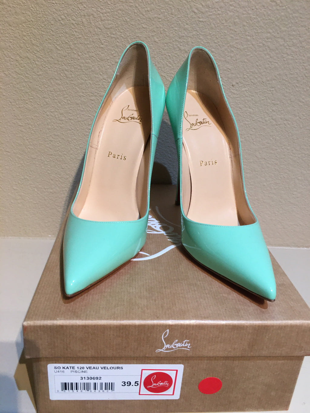 Christian Louboutin So Kate Mint Pump:BRAND NEW:Size 39.5