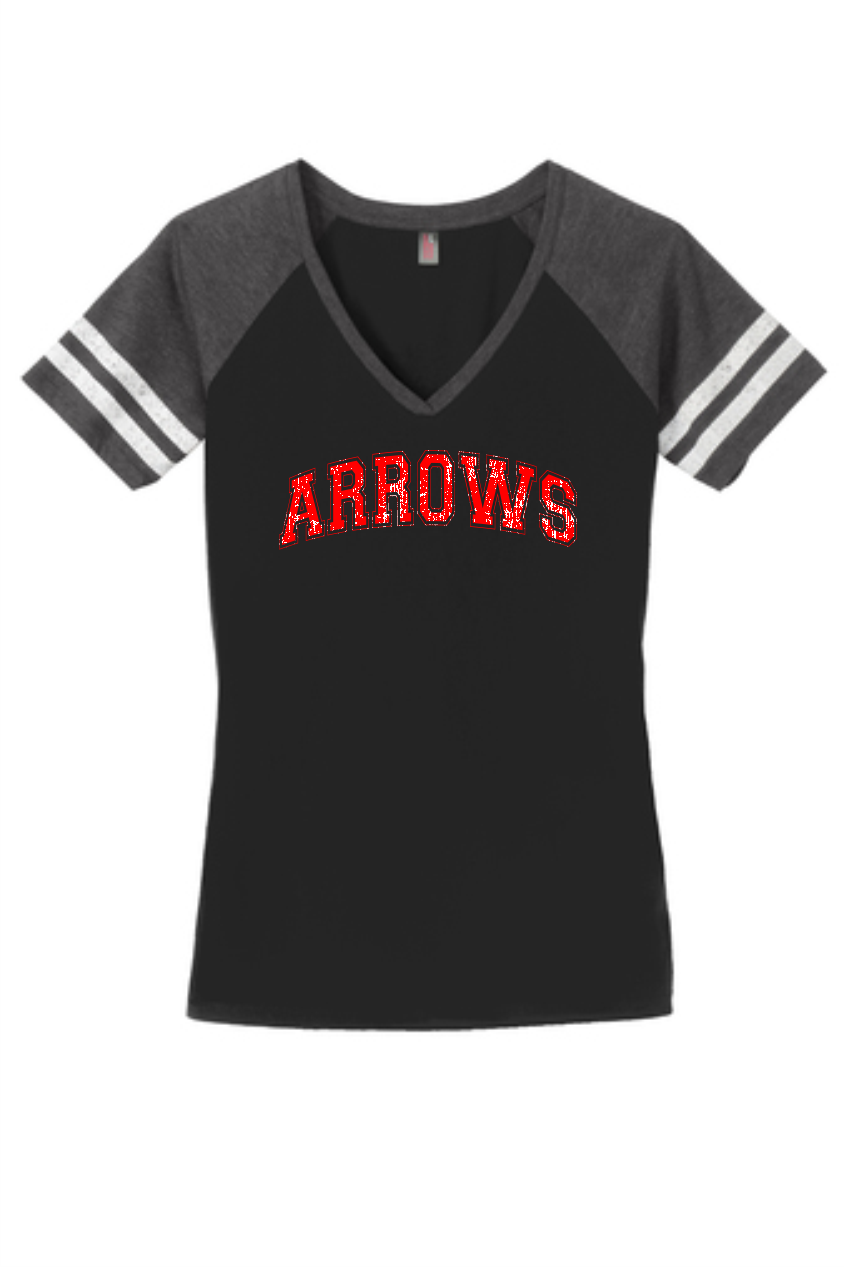 Short Sleeve Ladies Game Day V-Neck T-Shirt
