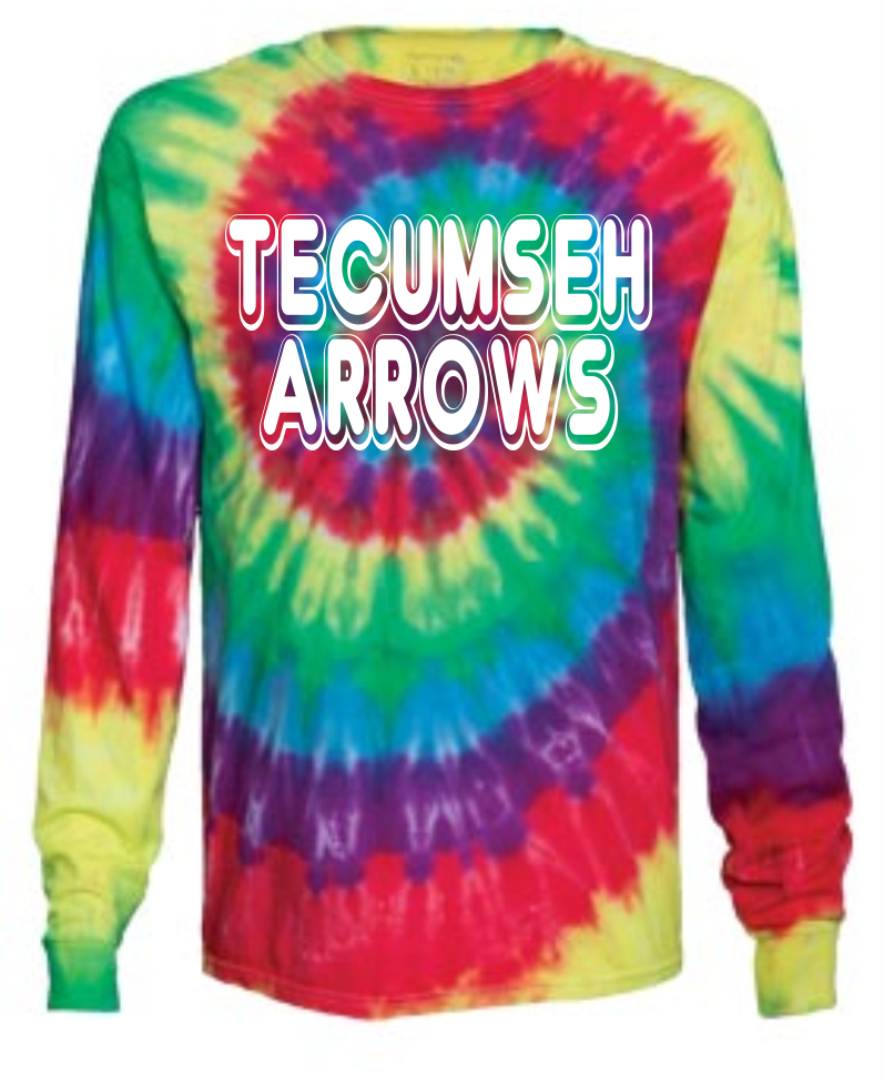 Tecumseh Arrows Tie-Dye Long Sleeve Tshirt