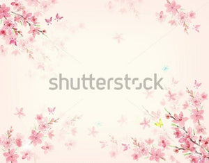 Floral Pink Theme  Backdrop