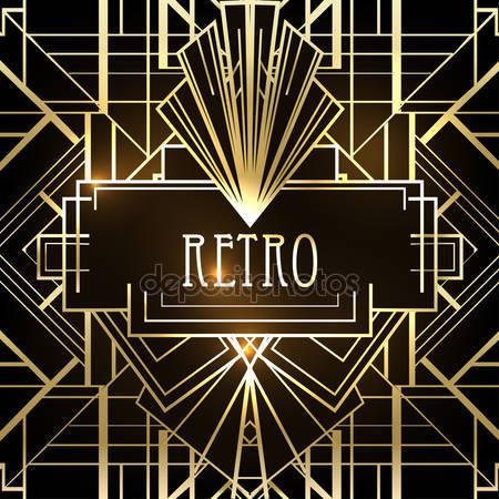 Art Deco Geometric Pattern Print Photography Backdrop