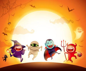 Halloween Kids Costume Party Backdrop