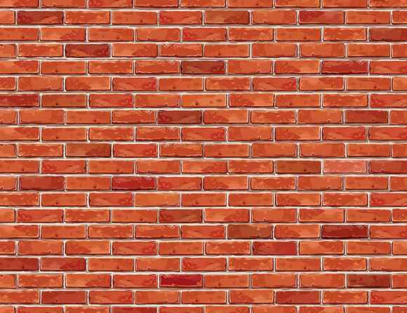 Vector Red Brick Wall Backdrop