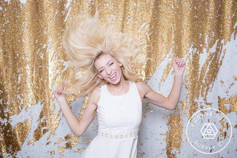 White/Gold Mermaid Sequin Backdrops