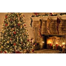 Fireplace Mantel Photography Christmas Print Photography Backdrop