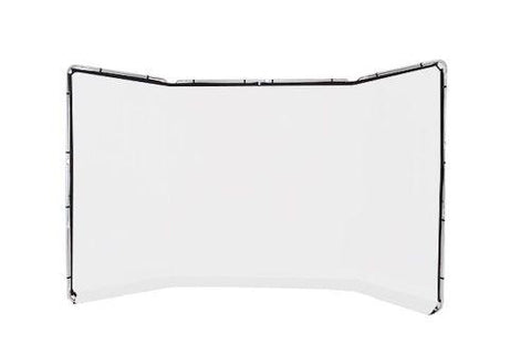 Panoramic Background White 4m wide