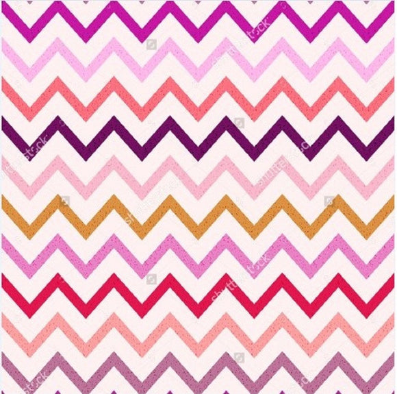 Seamless Wave Stripes Pattern Print Photography Backdrop
