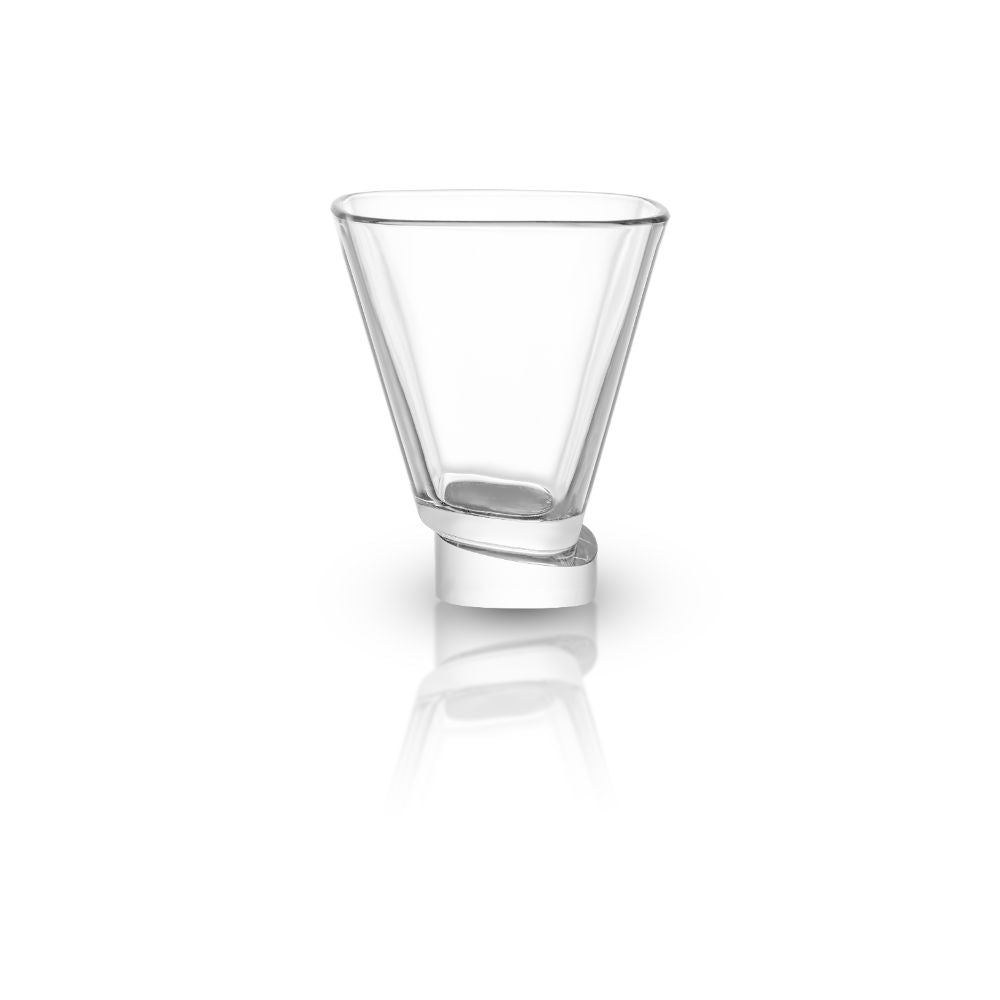 Aqua Vitae Square Crystal Martini Glasses Set of 2