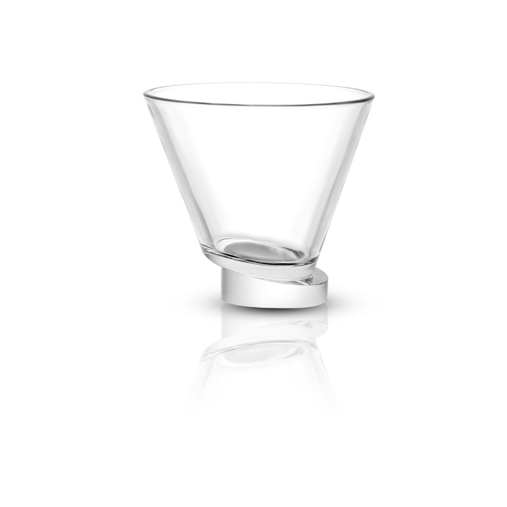Aqua Vitae Round Crystal Martini Glasses Set of 2