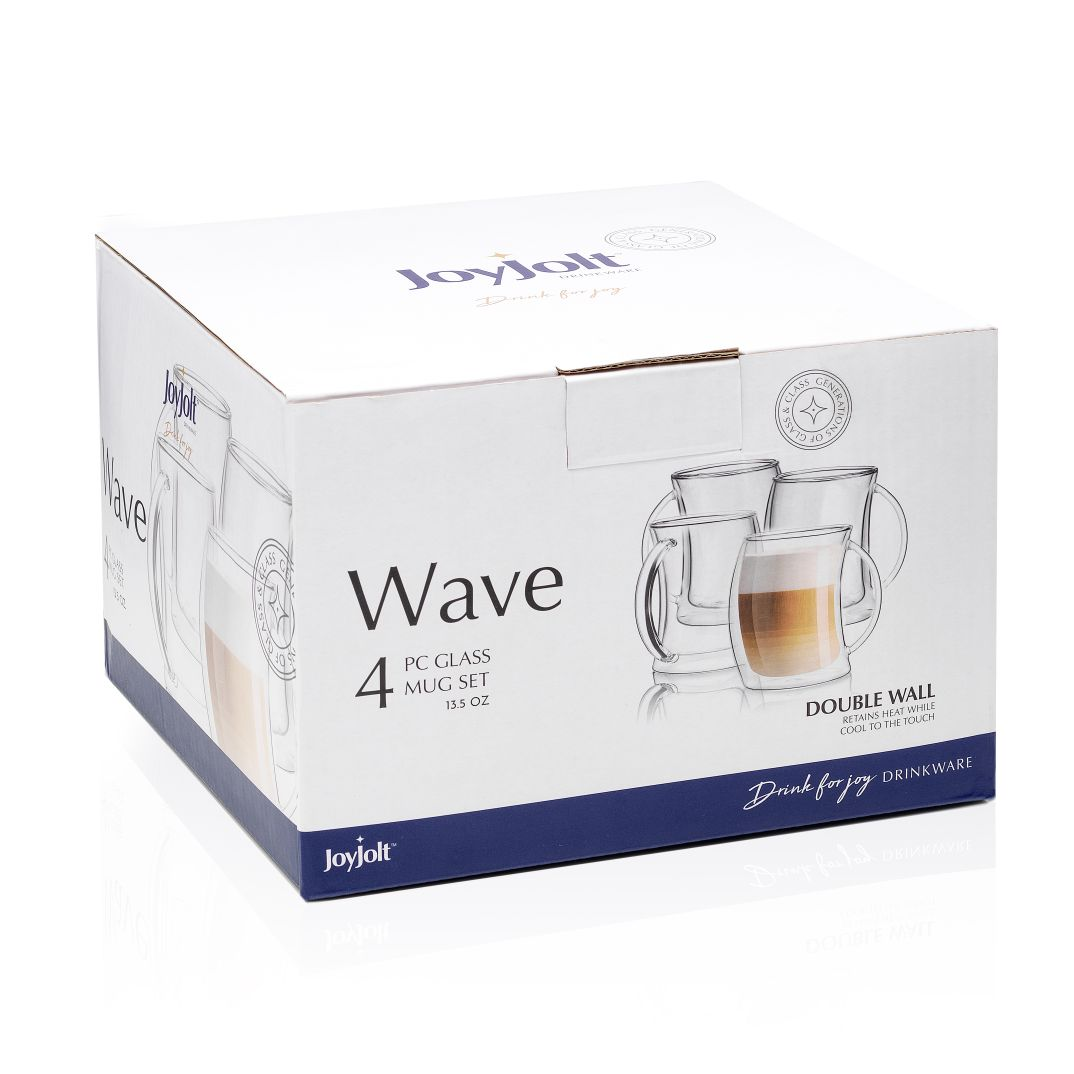 Wave  Double Wall Glasses Set of 4
