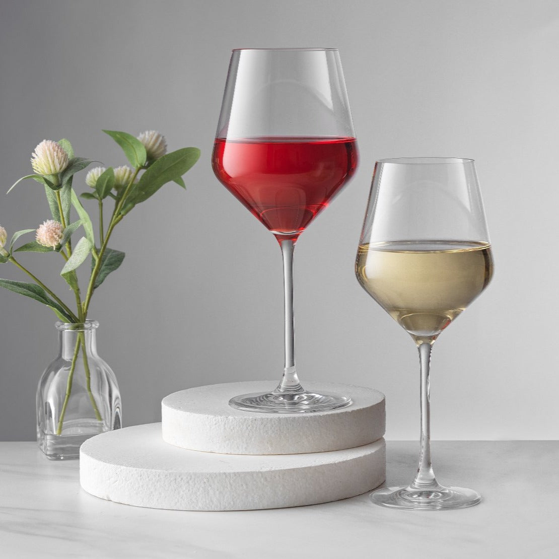 Layla White and Red Wine Glasses Set of 8