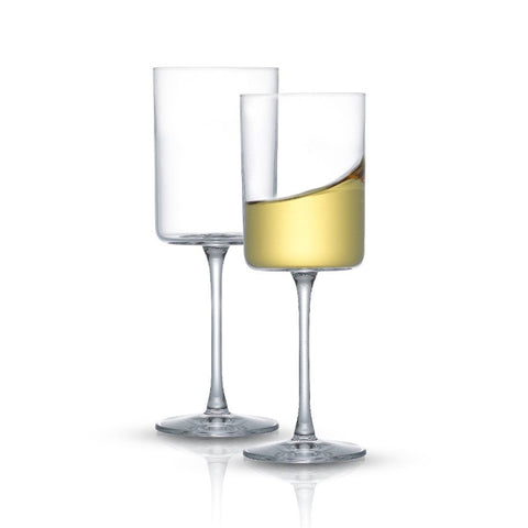 Claire White Wine Glasses Set of 2