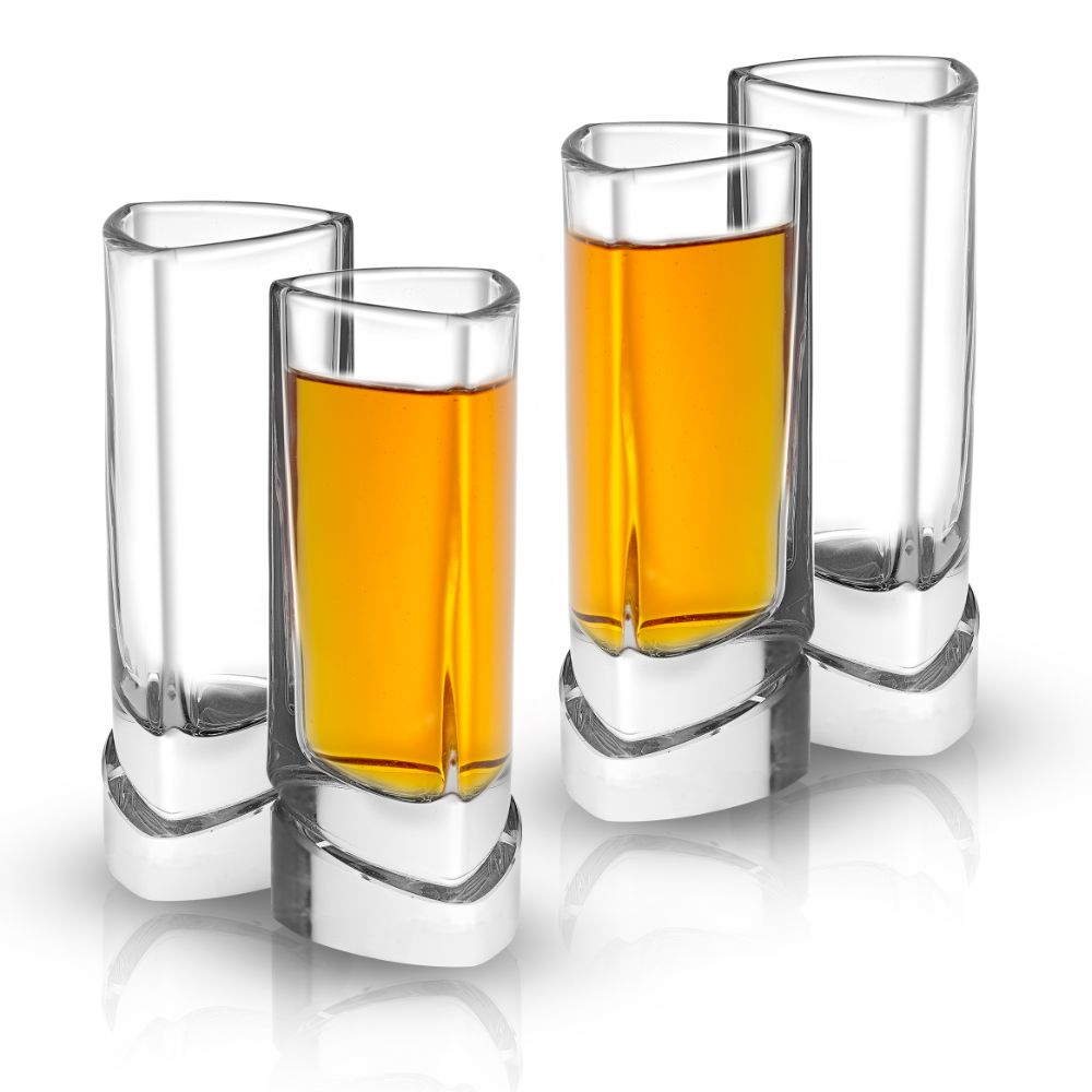 Aqua Vitae<br/>Triangle Crystal Shot Glasses<br/>Set of 4