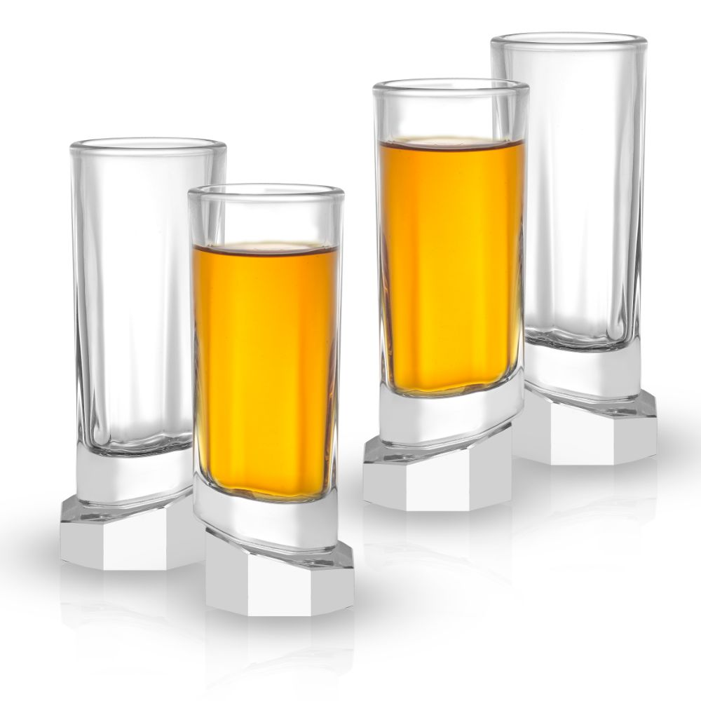 Aqua Vitae<br/>Octagon Crystal Shot Glasses<br/>Set of 4
