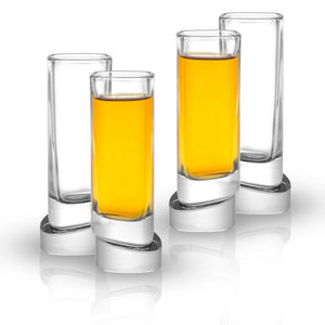 Aqua Vitae<br/>Square Crystal Shot Glasses<br/>Set of 4