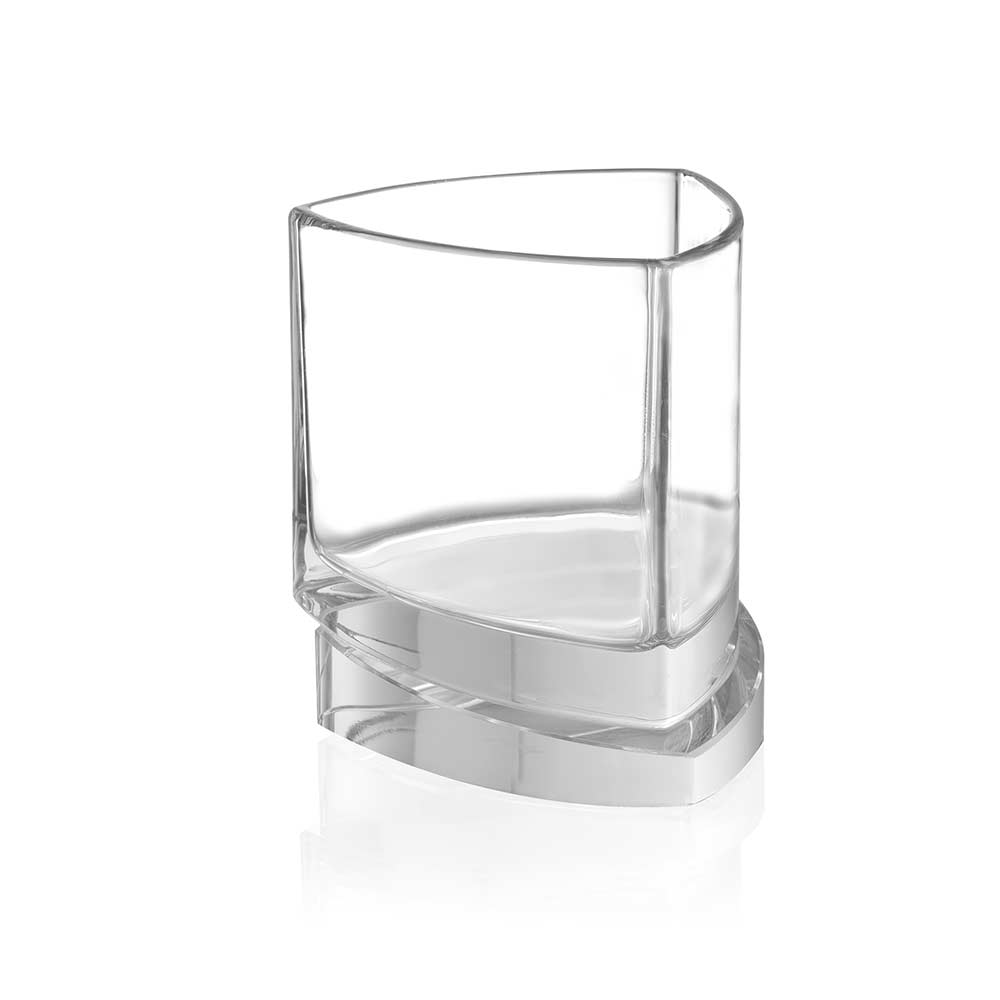 Aqua Vitae<br/>Triangle Crystal Whiskey Glasses<br/>Set of 2