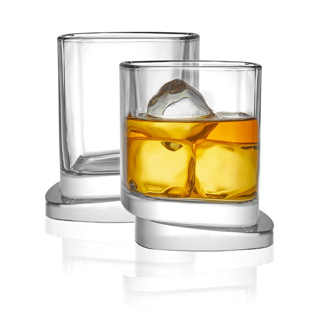Aqua Vitae<br/>Square Crystal Whiskey Glasses<br/>Set of 2