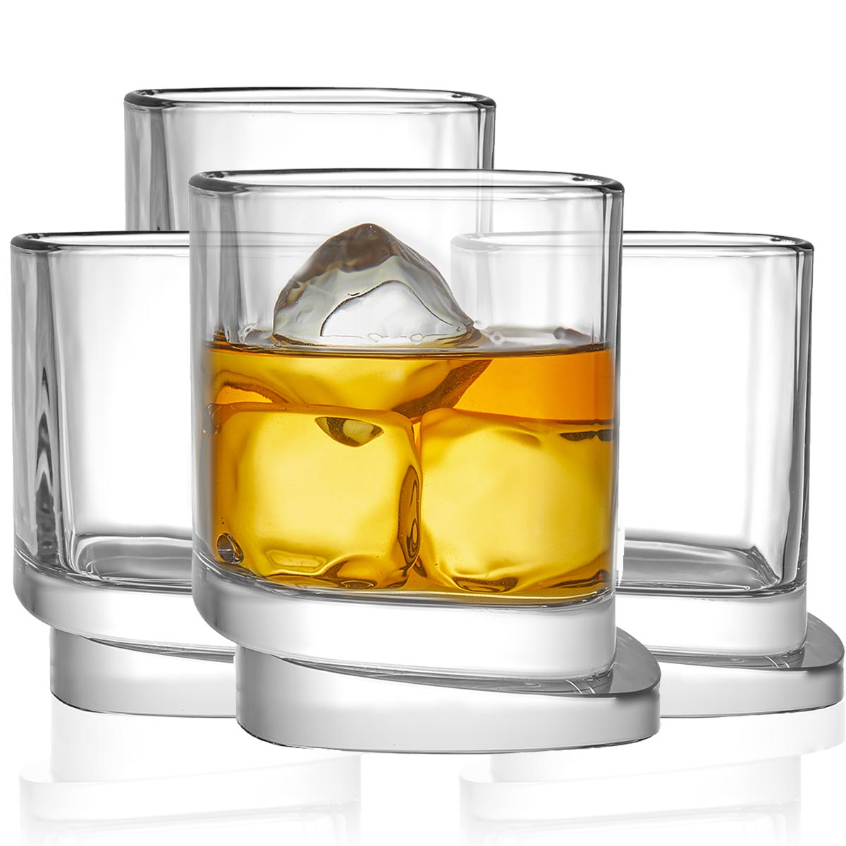 Aqua Vitae Square Crystal Whiskey Glasses