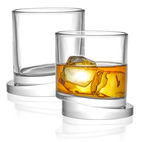 Aqua Vitae<br/>Round Crystal Whiskey Glasses<br/>Set of 2