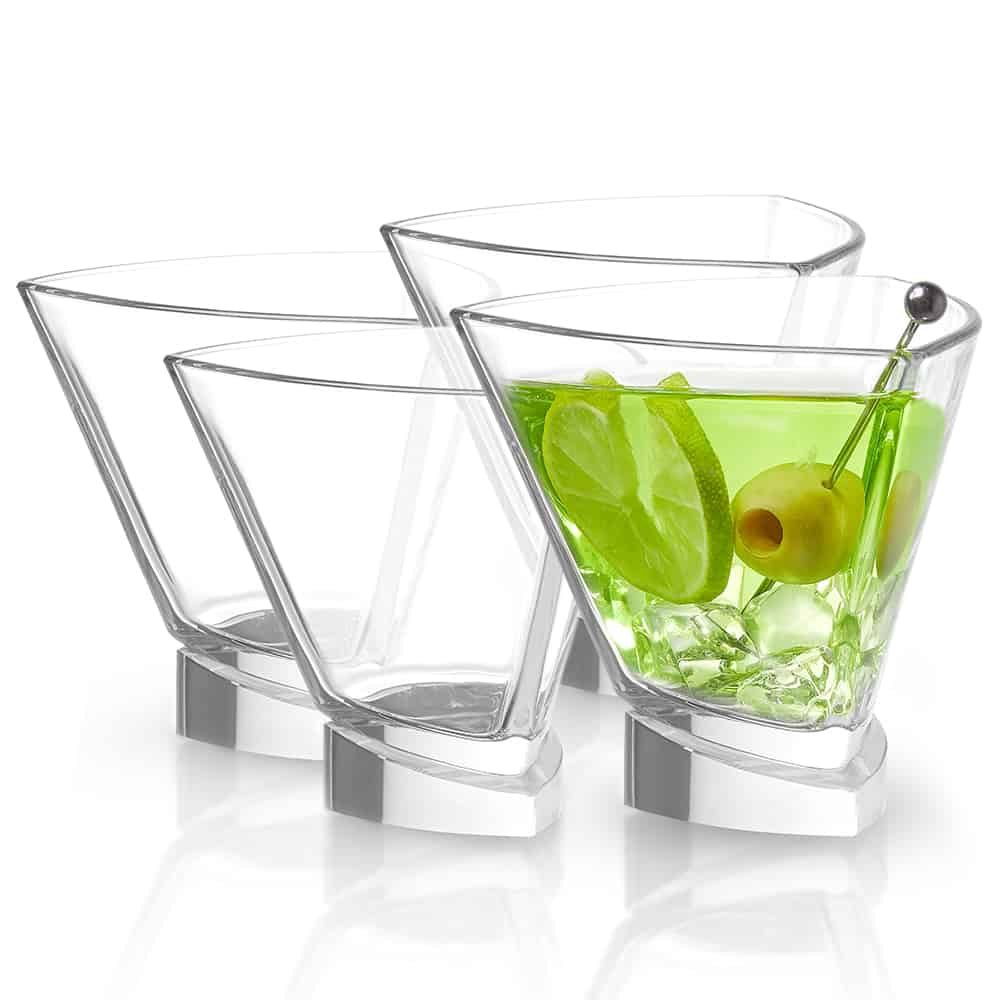 Aqua Vitae Triangle Crystal Martini Glasses