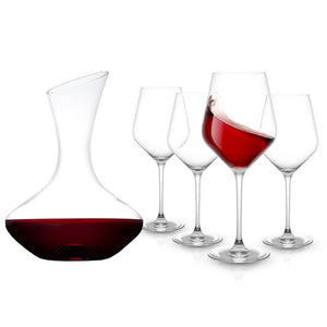 Crystal Decanter and Wine Glass Set
