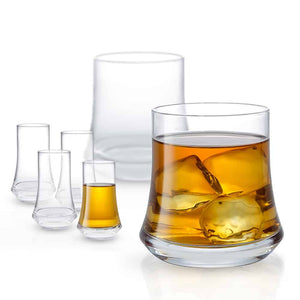 Cosmos Whiskey and Shot Glasses Set