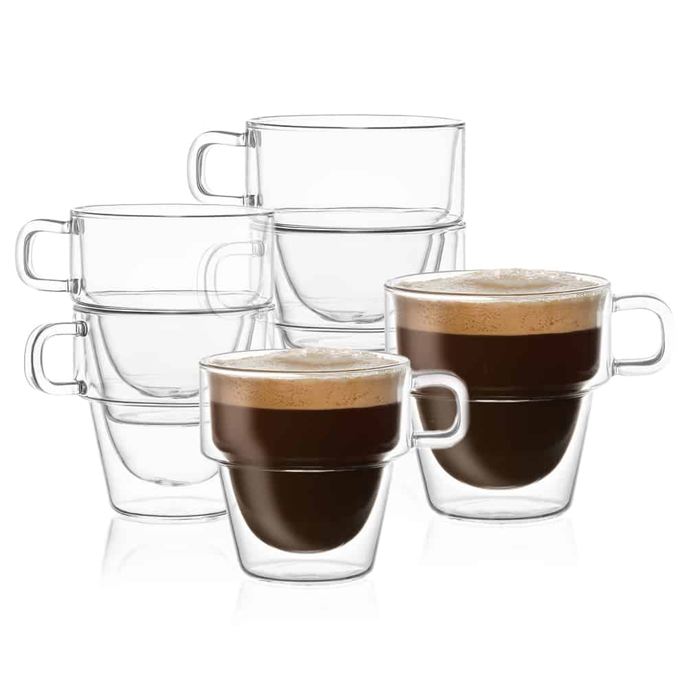 Stoiva Double Wall Glasses Set of 8