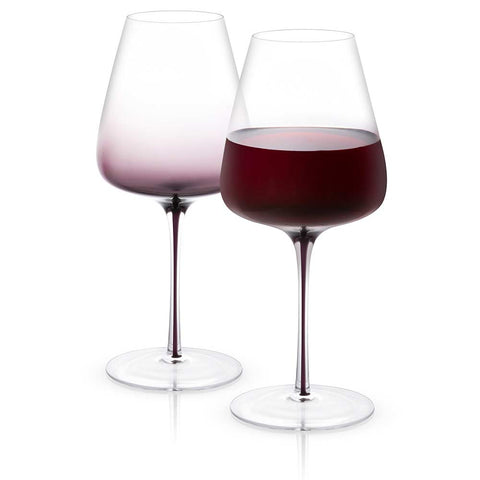 Black Swan Red Wine Glasses Set of 2