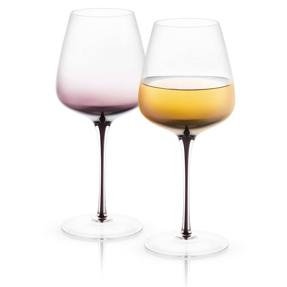 Black Swan White Wine Glasses Set of 2