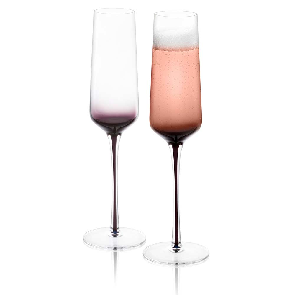 Black Swan Champagne Glasses Set of 2