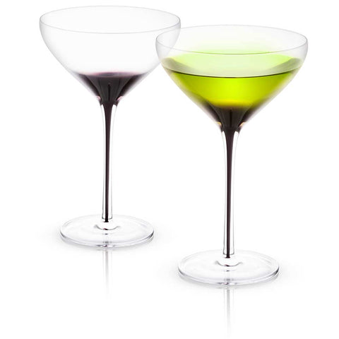 Black Swan<br/>Martini Glasses<br/>Set of 2