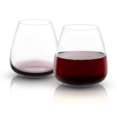 Black Swan Stemless Red Wine Glasses Set of 4