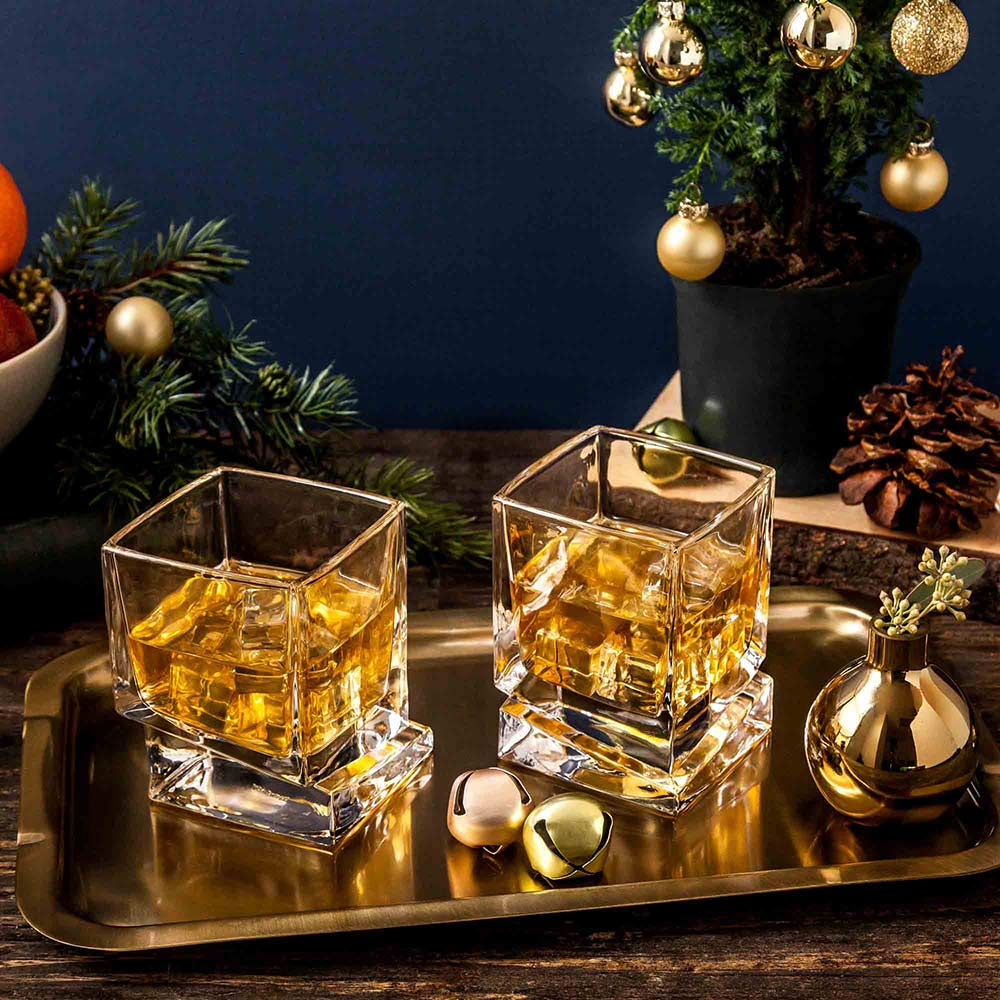 Carre Whiskey Glasses Set of 2