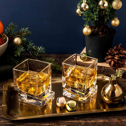 Carre<br/>Whiskey Glasses<br/>Set of 2