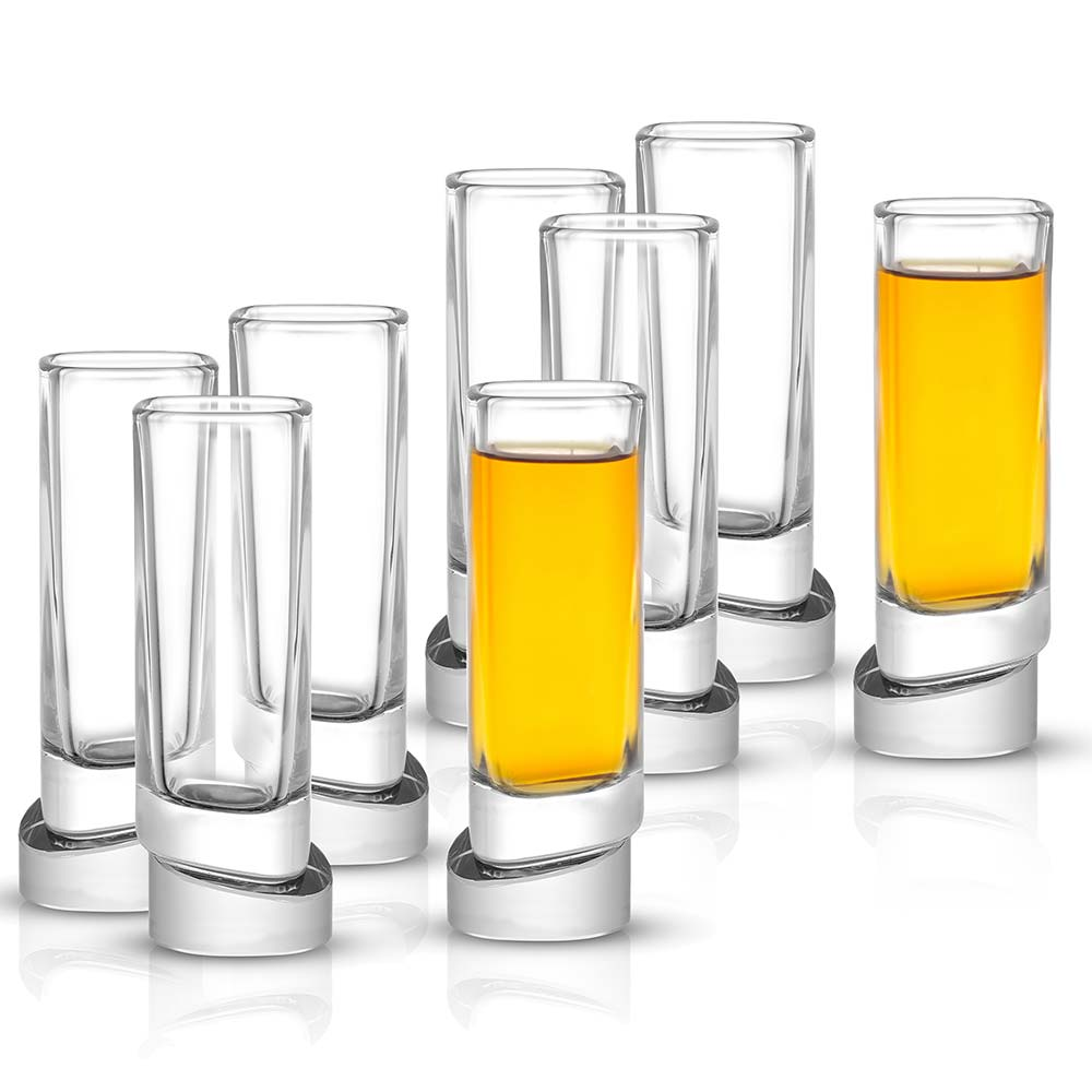 Aqua Vitae Square Crystal Shot Glasses