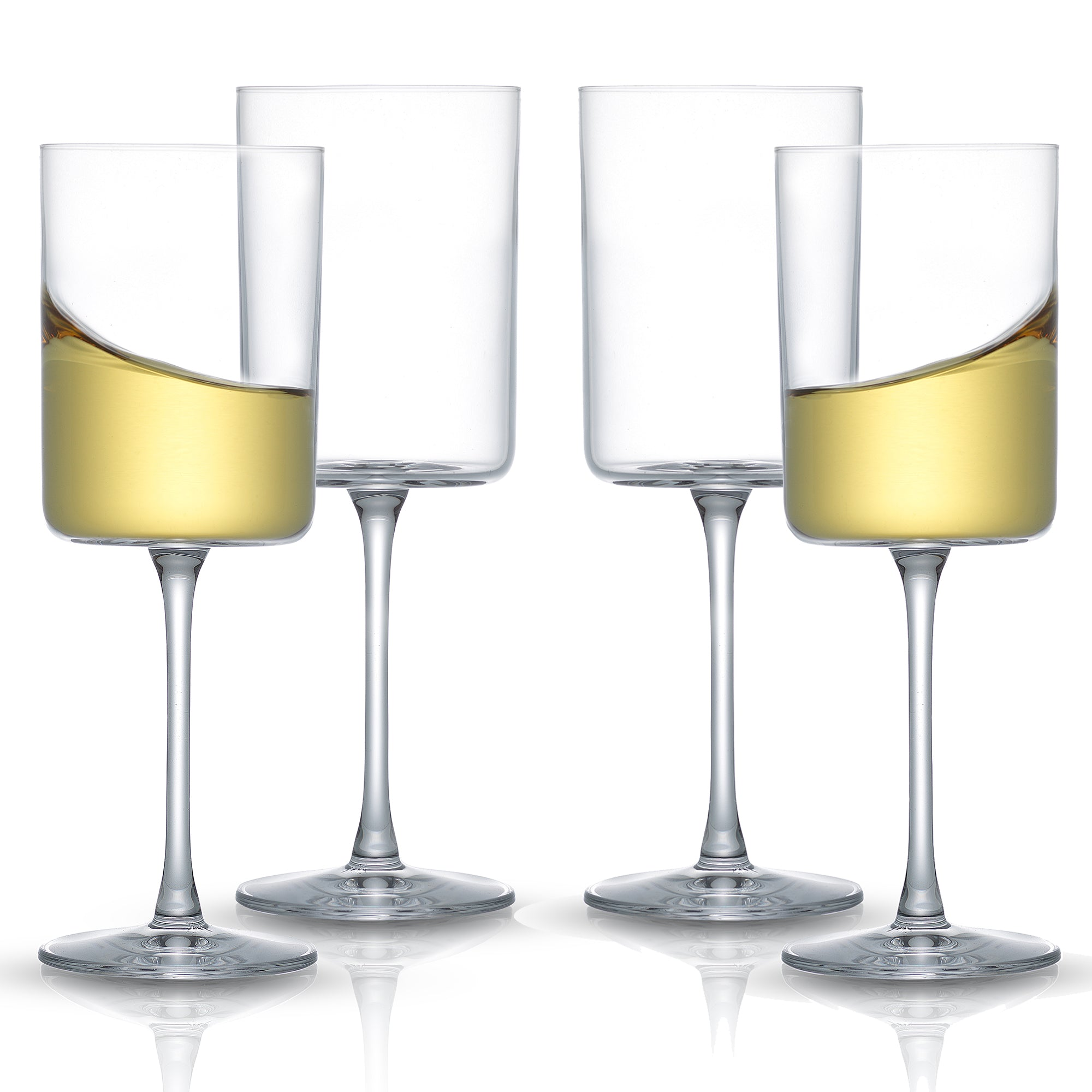 Claire White Wine Glasses