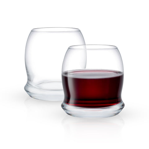 Cosmos Stemless Wine Glasses Set of 2