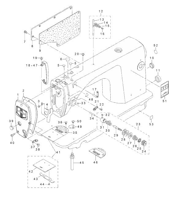 Ddl 8700 Series 1 Machine Frame Miscellaneous Cover Components