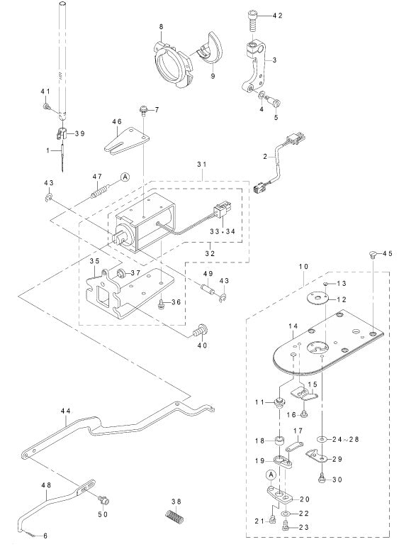 Exclusive Parts For Lk1901bs1: Sewing Machine Parts Diagram At Downselot.com