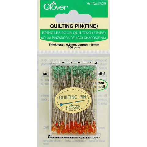 2509-CLO  Clover Quilting Pins (Fine)